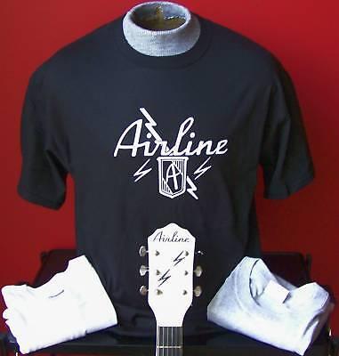**NEW VINTAGE** AIRLINE GUITAR T-SHIRT SIZES S-XL