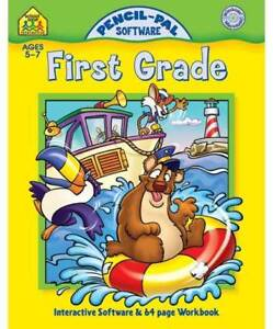 FIRST-GRADE-INTERACTIVE-CD-ROM-SOFTWARE-amp-64-PAGE-WORKBOOK