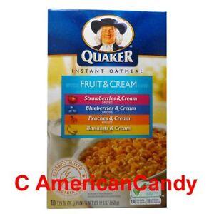 1x-350g-Quaker-Oatmeal-Frutta-amp-Crema-Varieta-25-69-kg