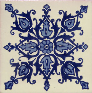 9-Ceramic-Handmade-Mexican-Talavera-Tiles-4x4-034-C239