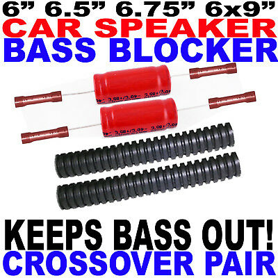 Bass Blockers Crossovers - 6.5 6.75 Or 6x9 Speakers Fast Free Usa Shipping