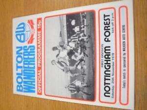 25-11-1978-Bolton-Wanderers-v-Nottingham-Forest-Team-C