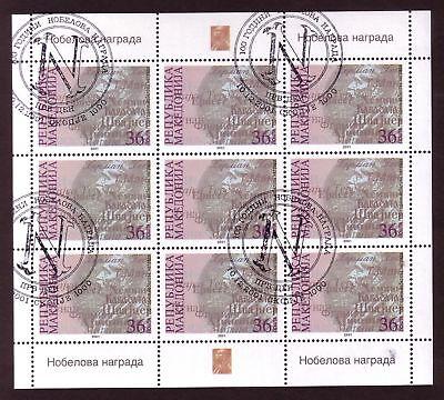 Madzedonien 242 o Kleinbogen Nobelpreise (1309)