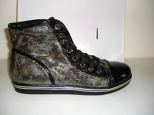 FOREVER-21-F21-Gold-Black-Shoes-Boots-Women-Size-9