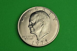 1971-D  AU++  About  Uncirculated Eisenhower US Dollar