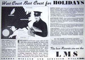 Vintage-Pre-WW2-039-LMS-039-Holidays-Advert-1939-Railway-Ad
