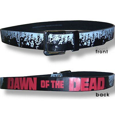 DAWN OF THE DEAD! ZOMBIES BLACK LEATHER BELT XL X-LARGE NEW OFFICIAL