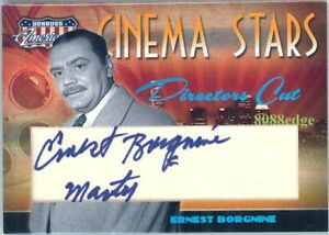 2007-AMERICANA-INSCRIPTION-AUTO-ERNEST-BORGNINE-10-10-AUTOGRAPH-MARTY