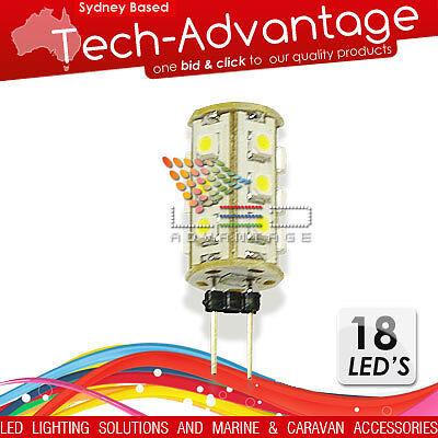 1 x 12V 18 SMD LED G4 PIN GLOBE LIGHT BOAT/CARAVAN/CAR