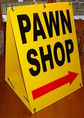 Pawn Shop W/arrow Sandwich Board Sign 2-sided Kit