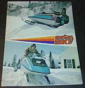 1973 RARE AUTO SKI SNOWMOBILE SALES BROCHURE