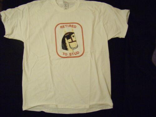 New Mens Light Horse White T shirt XL Fruit of the Loom