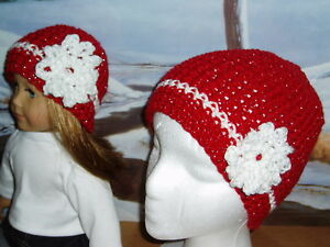 Matching-Sparkly-Red-White-Hats-Child-amp-Doll-clothes-Fits-American-Girl