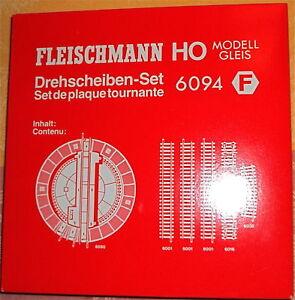 Drehscheiben Set Fleischmann 6094 H0 1:87 NEU OVP #HF1 µ