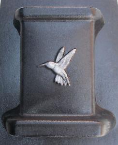 Gostatue Mold Hummingbird Bench Leg Concrete Plastic Mould 14 5 H
