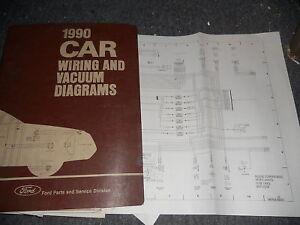 1990 ford tempo mercury topaz wiring vacuum diagrams ma ebay