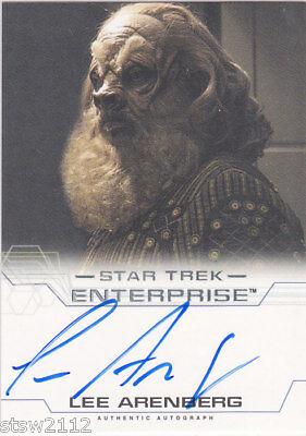 Star Trek Enterprise Season 4 Lee Arenberg Binder Exclusive Autograph