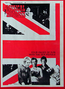 SEX PISTOLS_NME COVER LAMINATED MINI POSTER_PUNK ROCK