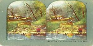 RIVER-TAKAO-stereoscopic-card-KYOTO-Japan-1800s