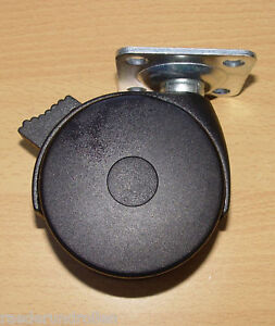 Schwerlast-Moebelrolle-100mm-Rolle-Platte-Stop-100kg-NEU