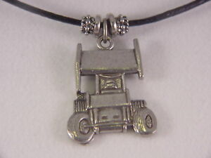 sprint car charm necklace auto racing jewelry dirt world