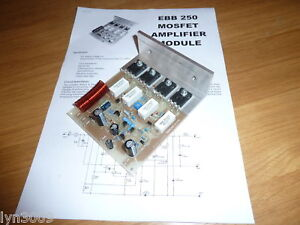 EBB 250 Mosfet Amplifier Module 250W RMS Audio Disco PA Power Amplifiers