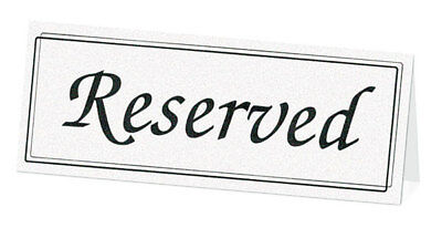Black White Reserved Signs Wedding Reception Table - 5pk