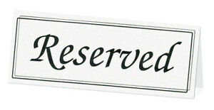 Image Is Loading Black White Reserved Signs Wedding Reception Table 5pk