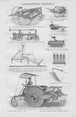 Landwirtschaftliche Maschinen Landtechnik STICHE 1905