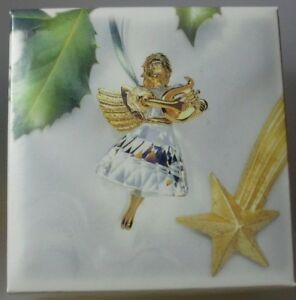 SWAROVSKI-CRYSTAL-1998-CHRISTMAS-ANGEL-219873-MINT-IN-BOX