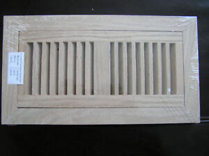 Flush mount oak grill wood floor register vent 2x12 ebay for 6x12 wood floor register