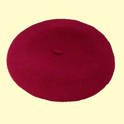 Ladies-Wool-French-Beret-LUXURY-Black-Navy-Red-Cream-Purple-Orange-Pink-Burgundy