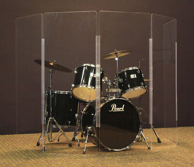NEW 5-ft 5-Panel Drum Shield, Plexiglas Drum Screen, Drum Cage - Budget Shield