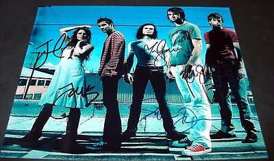 "FLYLEAF PP SIGNED 10X8"" PHOTO REPRO LACEY MOSLEY"