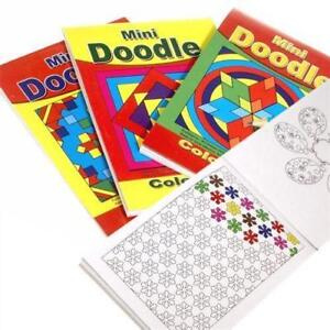 Mini Doodle Book 48 page art craft pattern colouring