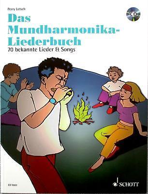 Mundharmonika Noten : Das Mundharmonika Liederbuch mit CD 70 Lieder Perry Letsch