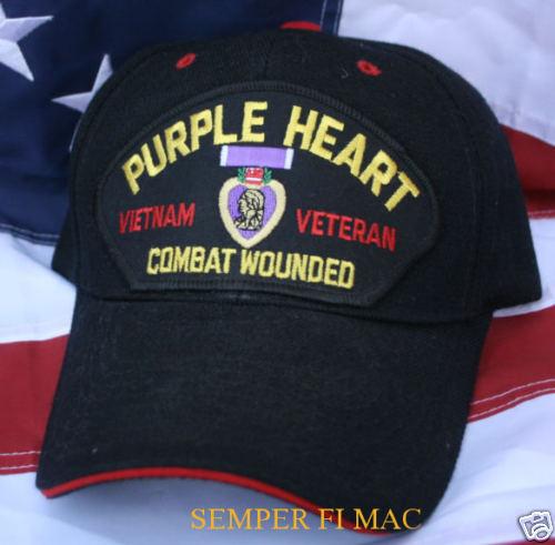 Details about PURPLE HEART VIETNAM VETERAN HAT US ARMY MARINES NAVY AIR  FORCE COAST GUARD NAVY