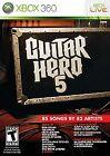 Guitar Hero 5 (Microsoft Xbox 360, 2009)