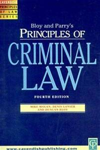 Principles of Criminal Law Principles of Law Parry Philip Bloy Duncan J - Hereford, United Kingdom - Principles of Criminal Law Principles of Law Parry Philip Bloy Duncan J - Hereford, United Kingdom
