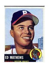 1953 Topps Eddie Mathews Boston Braves 37 Baseball Card
