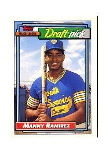 1992 Topps Manny Ramirez Cleveland Indians 156 Baseball Card