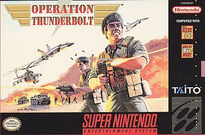 Operation Thunderbolt Super Nintendo Entertainment System SNES Cartridge BNIB