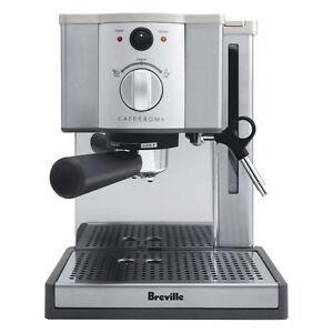 Breville ESP8XL Cafe Roma Inoxydable Espresso Maker-Double Paroi-Filtre 15-bar