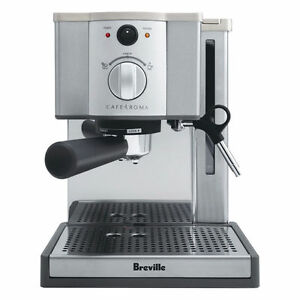 Breville ESP8XL Cafe Roma Stainless Espresso Maker - Dual-wall filter - 15-bar