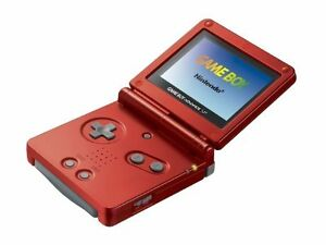 Nintendo Game Boy Advance SP Launch Edition Flame Red Handheld