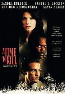 A Time To Kill DVD NEW Sandra Bullock Matthew McConaughey Samuel L Jackson - $3.99
