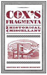 Coxs-Fragmenta-An-Historical-Miscellany-Very-Good-Book