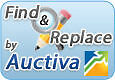 Auctiva Find and Replace