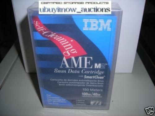 Ibm 150m Ame 8mm Data Tape Cartridge M2 Smart Clean 00553 09l5323