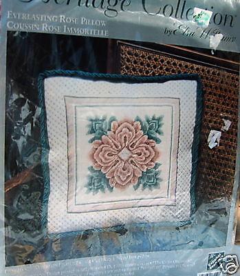Elsa Williams Everlasting Rose Pillow Needlepoint Kit